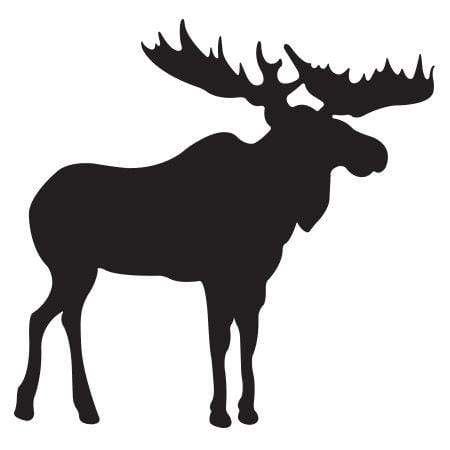 Craft Stamp Moose Silhouette Stamp