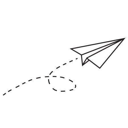 Craft Stamp Paper Airplane Stamp