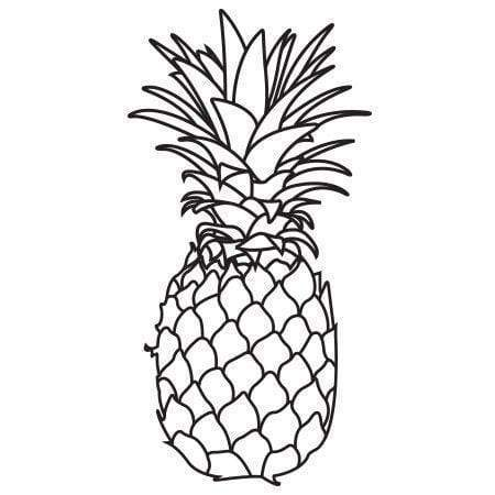 Pineapple Rubber Stamp Handmade  by BlossomStamps