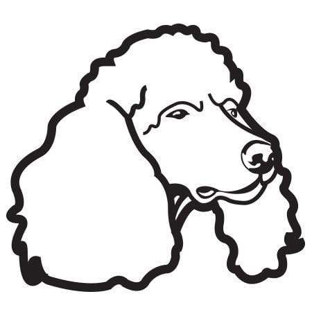 Craft Stamp Poodle Face Stamp