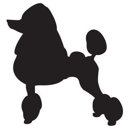 Craft Stamp Poodle Silhouette 2 Stamp