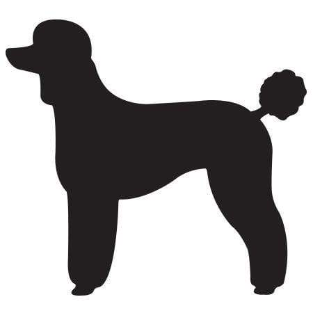 Craft Stamp Poodle Silhouette Stamp