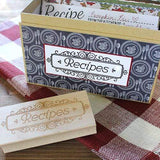 Craft Stamp Recipe Stamp
