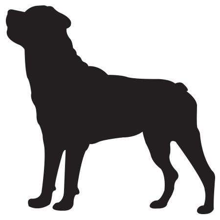 Craft Stamp Rottweiler Silhouette Stamp