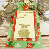 Craft Stamp Santa Chimney Gift Tag Stamp
