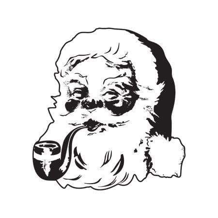 Craft Stamp Santa Face Stamp