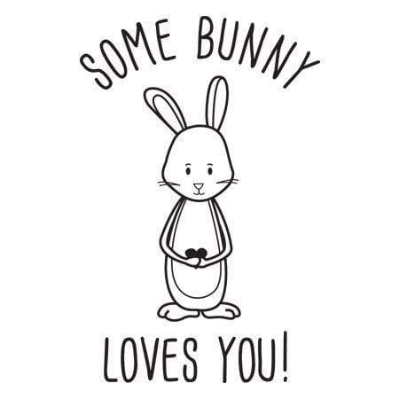 Craft Stamp Some Bunny Loves You Stamp