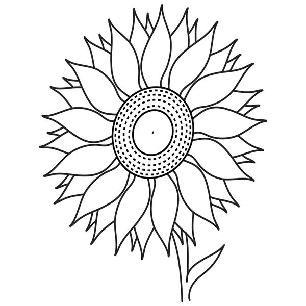 Craft Stamp Sunflower Stamp