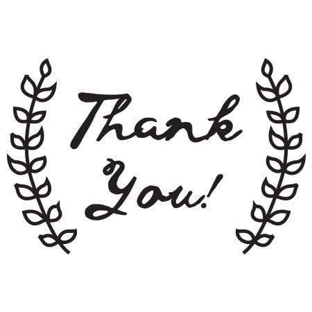 Craft Stamp Thank You Olive Branches Stamp