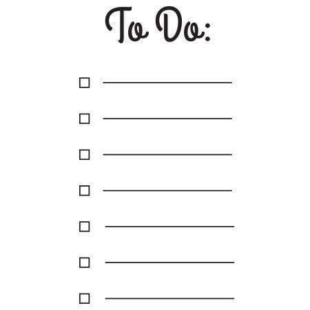 Craft Stamp To Do List Stamp