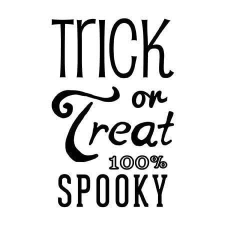 Craft Stamp Trick or Treat Stamp