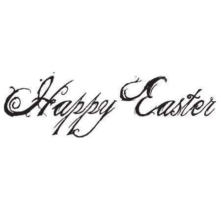 Craft Stamp Vintage Happy Easter Stamp