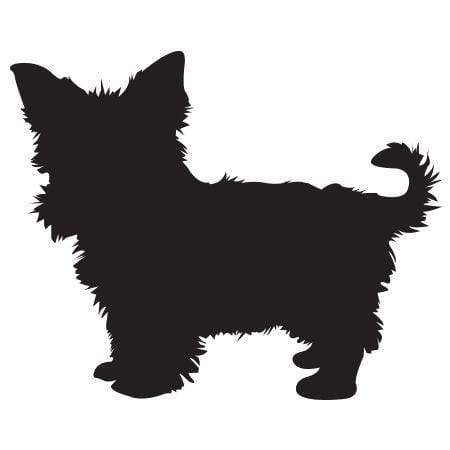 Craft Stamp Yorkie Silhouette Stamp