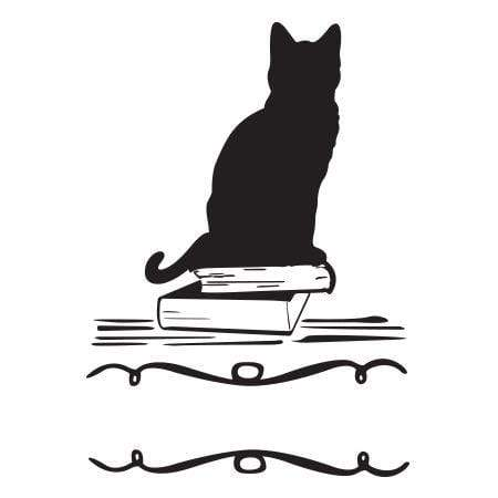 Craft Stamps Black Cat Ex Libris Stamp