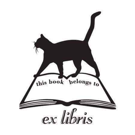 Craft Stamps Cat Book Ex Libris Stamp