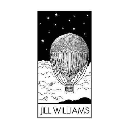 Craft Stamps Custom Hot Air Balloon Ex Libris Stamp