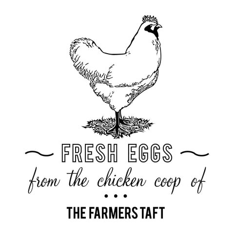 Craft Stamps Fresh Eggs Chicken Stamp