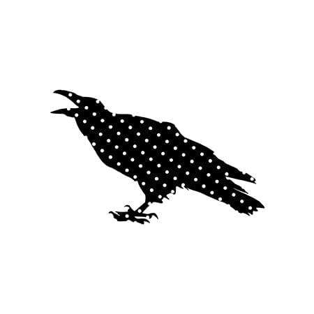 Craft Stamps Halloween Crow Stamp