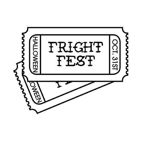 Craft Stamps Halloween Fright Fest Stamp