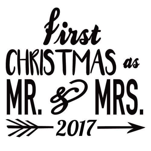 Craft Stamps Married First Christmas Stamp
