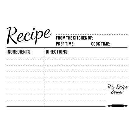 Craft Stamps Recipe Card Stamp
