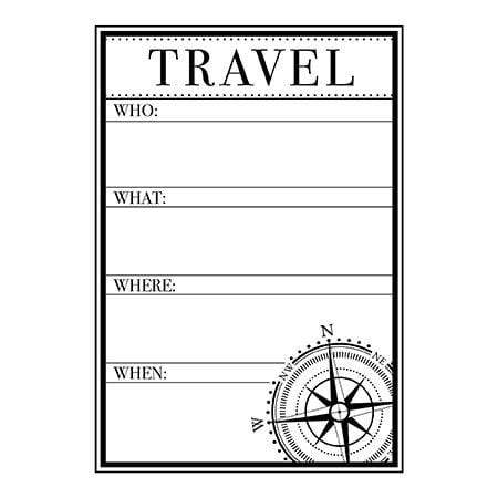 Craft Stamps Travel Details Stamp