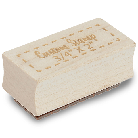 "Custom Stamps 3/4"" by 2"" Engraved Stamp"