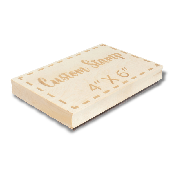 "Custom Stamps 4"" by 6"" Engraved Stamp"