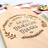 Cutting Boards Give Thanks Wreath Cutting Board
