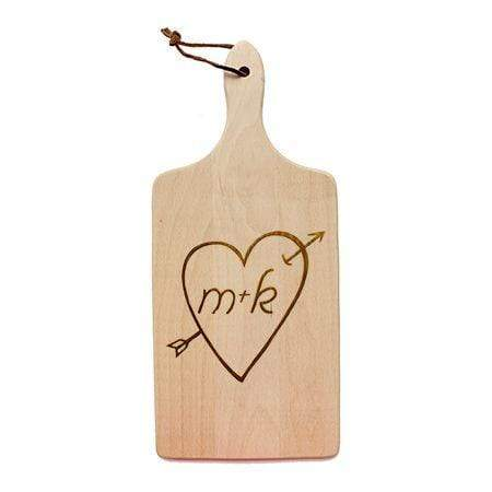 Cutting Boards Initial Heart Cutting Board