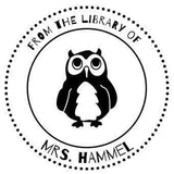 Ex Libris Stamps Library Owl Stamp