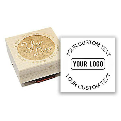 Logo Stamps Square Wood Logo Stamp