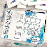 "Missy Briggs 1.25"" x 0.5"" / Clear (Cling) Missy Briggs Collection Abbreviated Days Script Stamp"