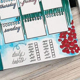 "Missy Briggs 1.25"" x 0.5"" / Clear (Cling) Missy Briggs Collection Weekly Habit Tracking Stamp"