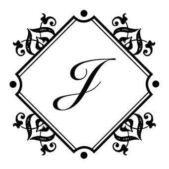 Monogram Stamp Baroque Diamond Monogram Stamp