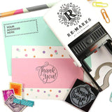 Monogram Stamp Dotted Circle Monogram Stamp