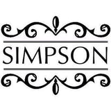Monogram Stamp Floral Border Name Stamp