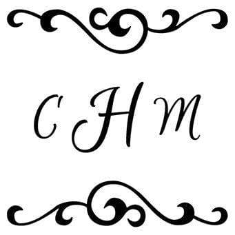 Monogram Stamp Swirl Border Monogram Stamp