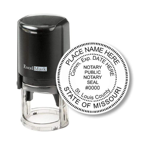 Notary Stamp Missouri Notary Stamp - Round Self-Inking
