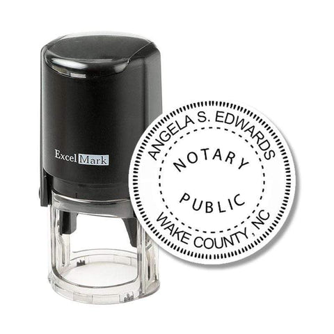 Notary Stamp North Carolina Notary Stamp - Round Self-Inking