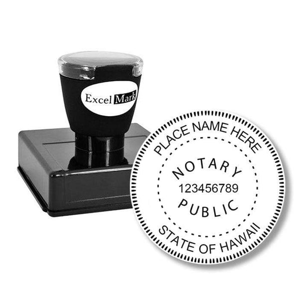 Notary Stamp Round Pre-Inked Hawaii Notary Stamp