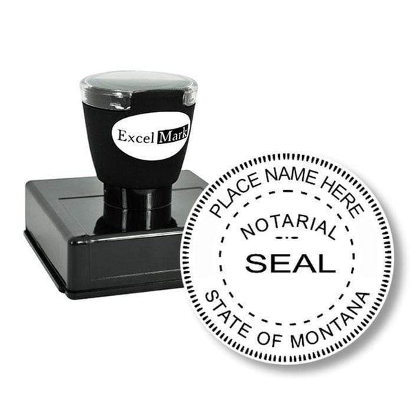 Notary Stamp Round Pre-Inked Montana Notary Stamp