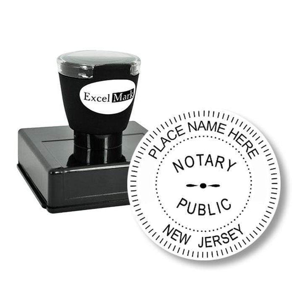 Notary Stamp Round Pre-Inked New Jersey Notary Stamp