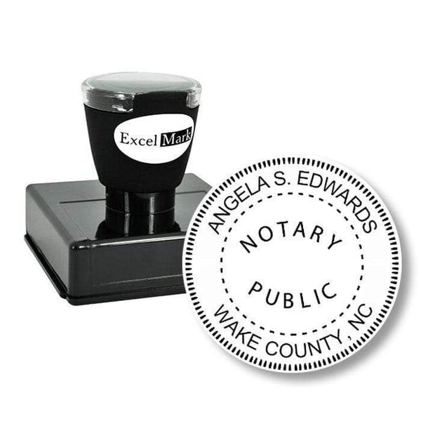 Notary Stamp Round Pre-Inked North Carolina Notary Stamp