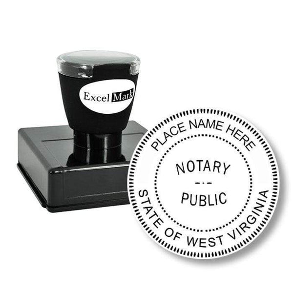 Notary Stamp Round Pre-Inked West Virginia Notary Stamp