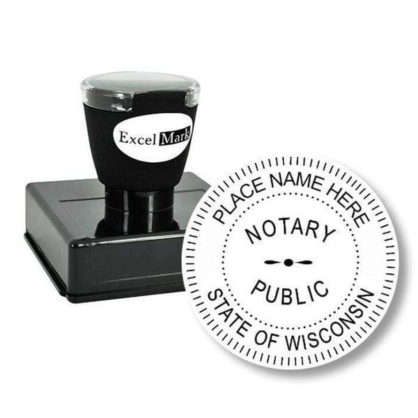 Notary Stamp Round Pre-Inked Wisconsin Notary Stamp