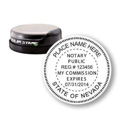 Notary Stamp Round Slim Nevada Notary Stamp