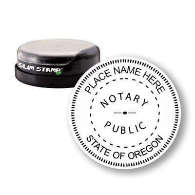 Notary Stamp Round Slim Oregon Notary Stamp