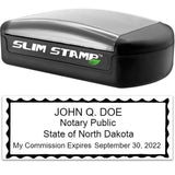 Notary Stamp Slim North Dakota Notary Stamp