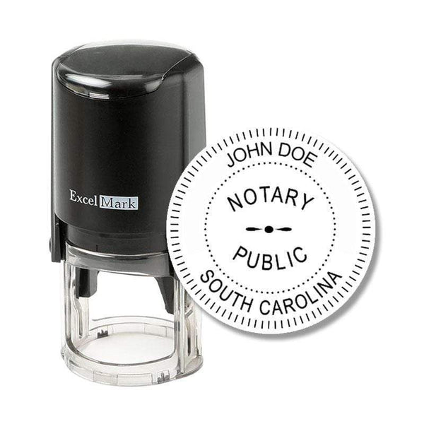 Notary Stamp South Carolina Notary Stamp - Round Self-Inking
